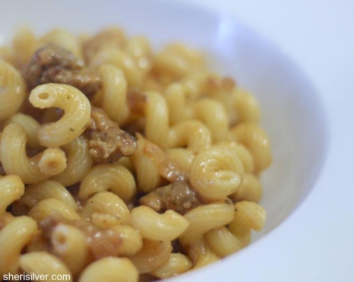 pasta with fast ragu sauce