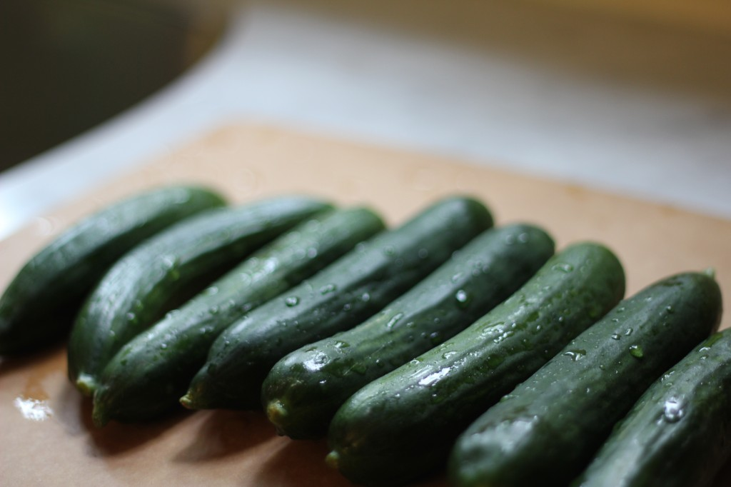 to market: persian cucumbers