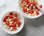 chickpea feta and cherry tomato salad
