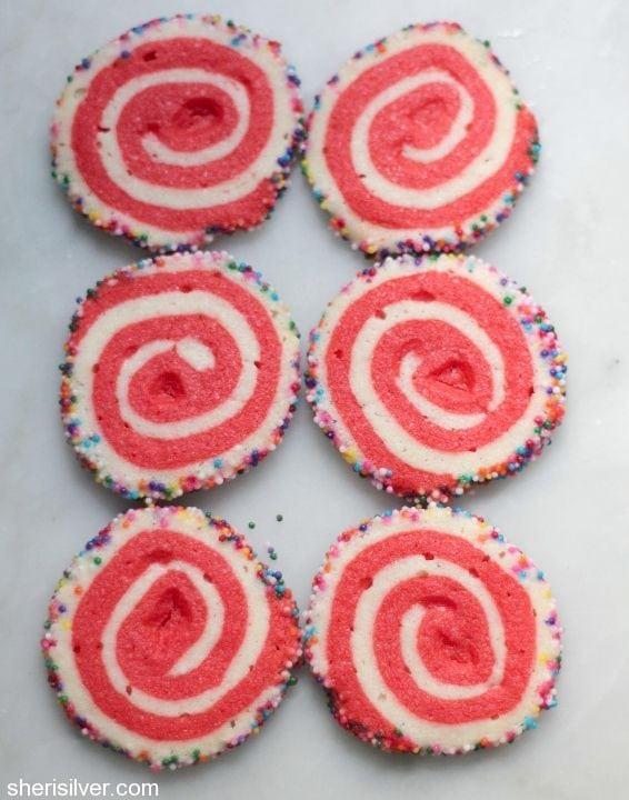spiral sprinkle cookies