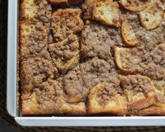 cinnamon streusel french toast
