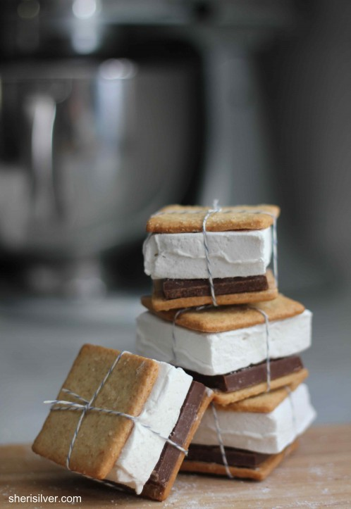 s'mores, graham crackers, marshmallows, one girl cookies