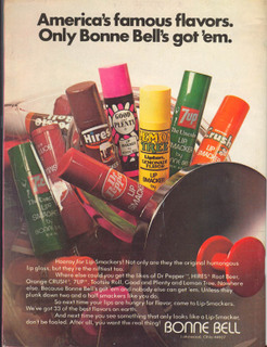 vintage 70's lipsmackers ad