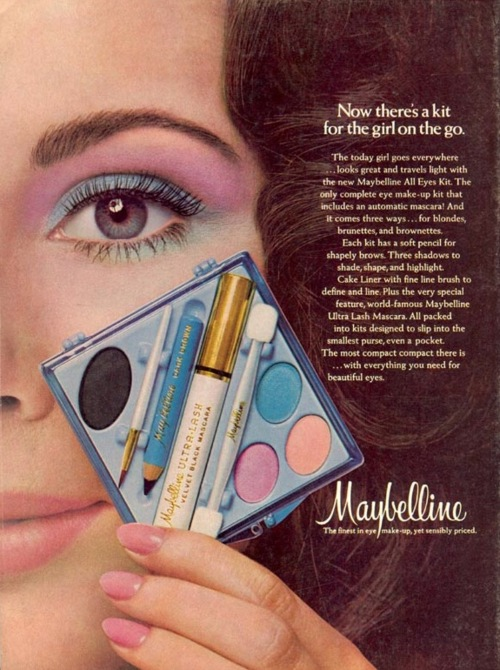 vintage 70's maybelline ad