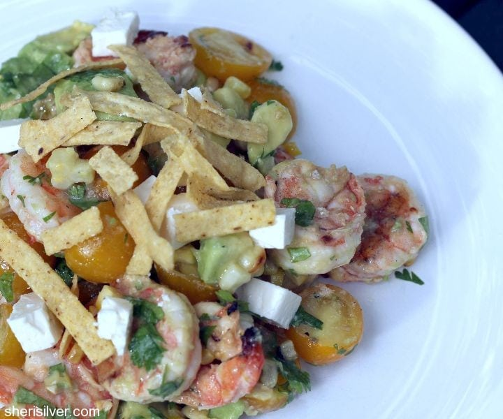 shrimp lime avocado salad