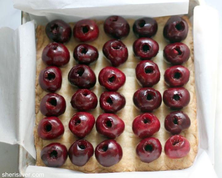 cherry brown butter bars