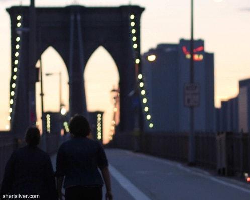 chelsea's 21st birthday, brooklyn bridge