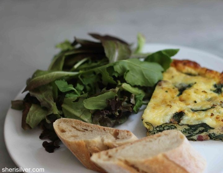 bacon and kale frittata