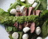 flank steak with chimichurri dressing