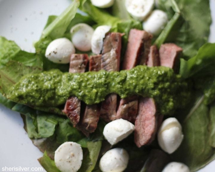Grilled Flank Steak Salad with Chimichurri Dressing