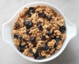 sugar free: maple granola with dried cherries