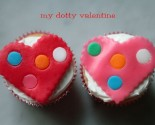 dotty valentine cupcake toppers (from airheads!)