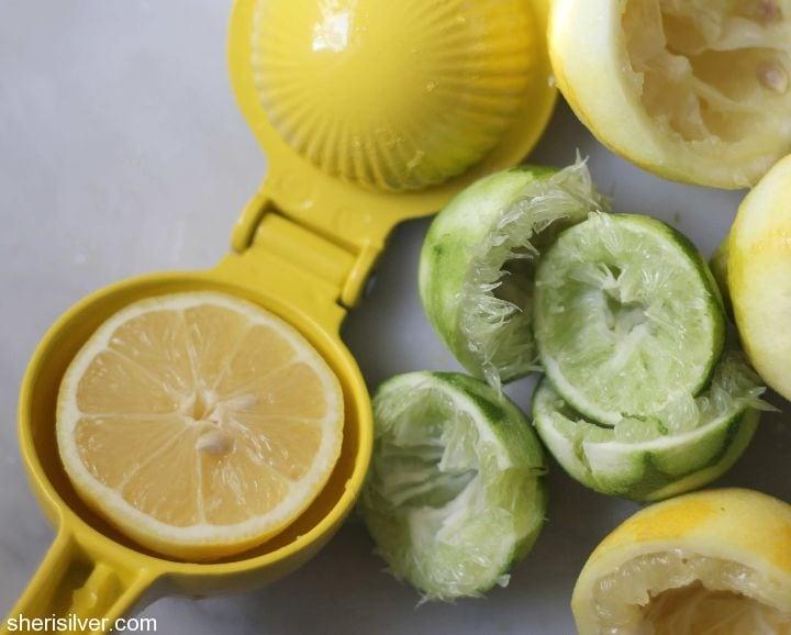 juicing and zesting citrus