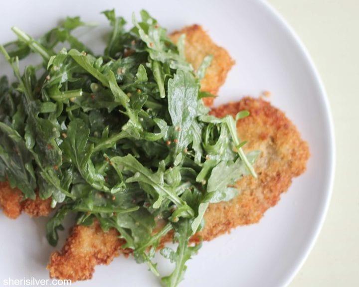 Pork Milanese With Arugula Salad Recipe — Dishmaps