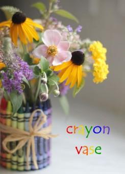 diy crayon vase