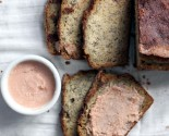 banana bread and strawberry butter