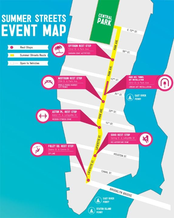 summer streets, map