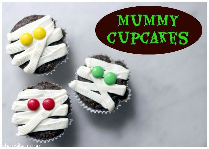 Low-Fat Chocolate Mummy Cupcakes Recipes — Dishmaps