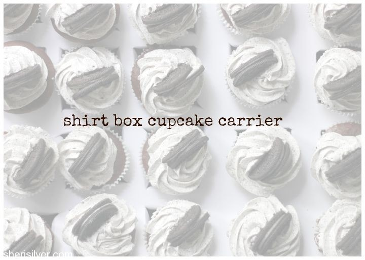 shirt box cupcake carrier