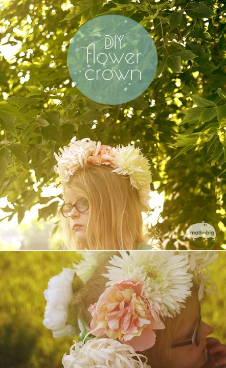 small for big DIY flower crown