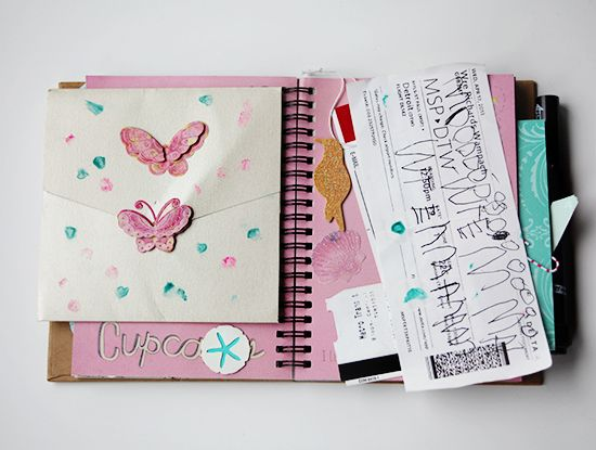 small for big art journaling