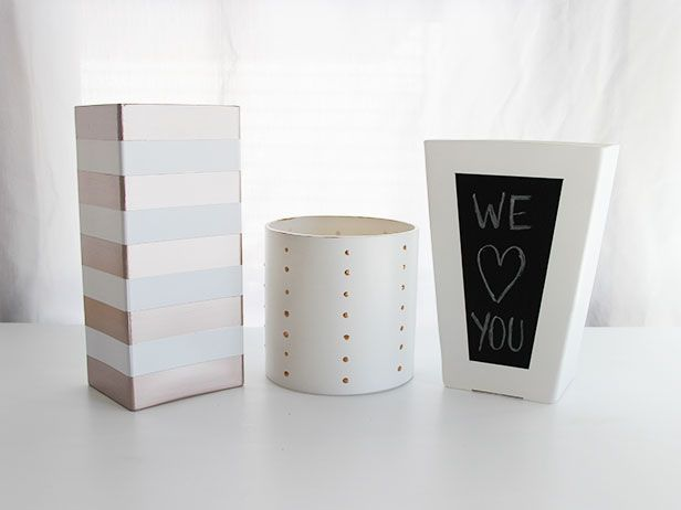 minnow and co diy painted vases