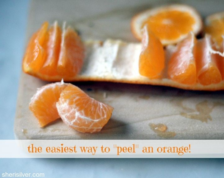 the easiest way to peel an orange