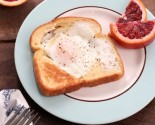 """mini cooks"" do breakfast - egg in a basket!"
