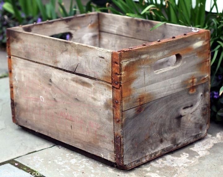 vintage milk crate