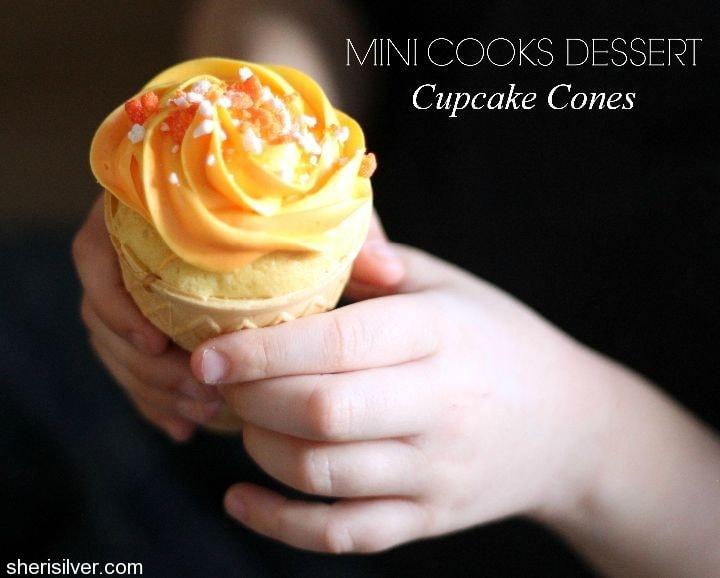 mini cooks cupcake cones