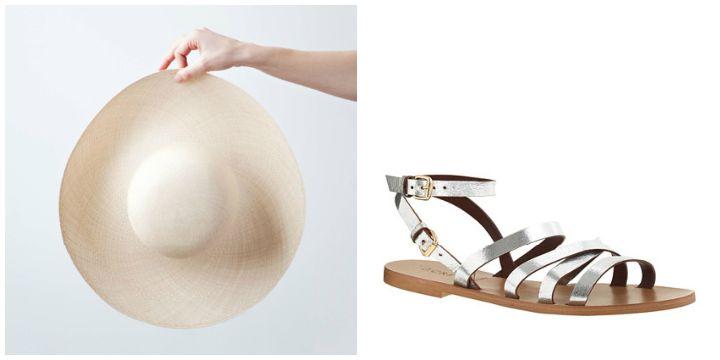 straw hat sandals