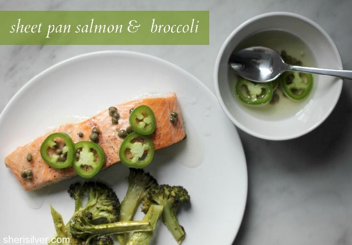sheet pan salmon and broccoli
