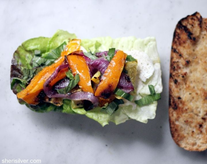 cobblestone bread grilled vegetable sandwich7