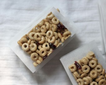 no bake cranberry oat cereal bars