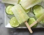 basil lime cucumber pops