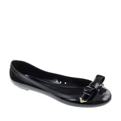 j. crew rainy day bow ballet flats