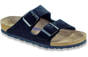 black suede arizona birkenstocks