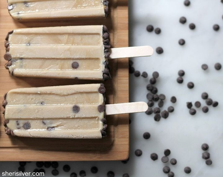 vegan chocolate chip cookie dough pops