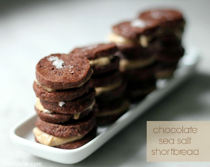 chocolate sea salt shortbread