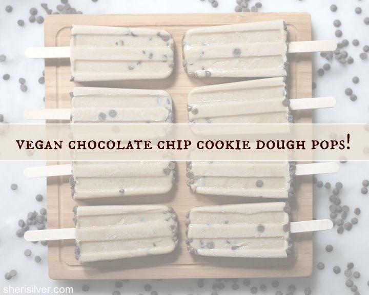 vegan chocolate chip cookie dough pops