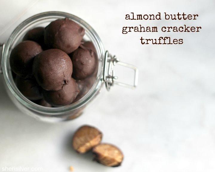 almond butter graham cracker truffles