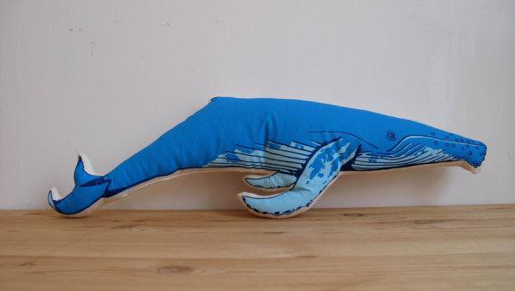 broderpress blue whale pillow