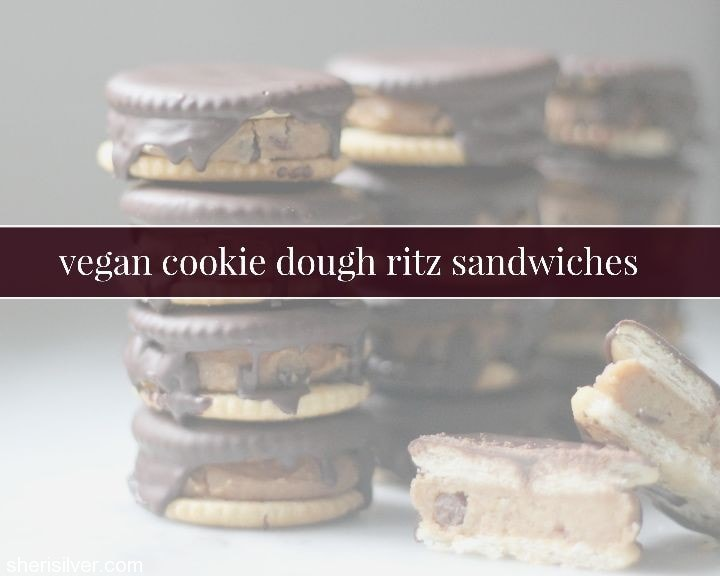 vegan cookie dough ritz sandwiches