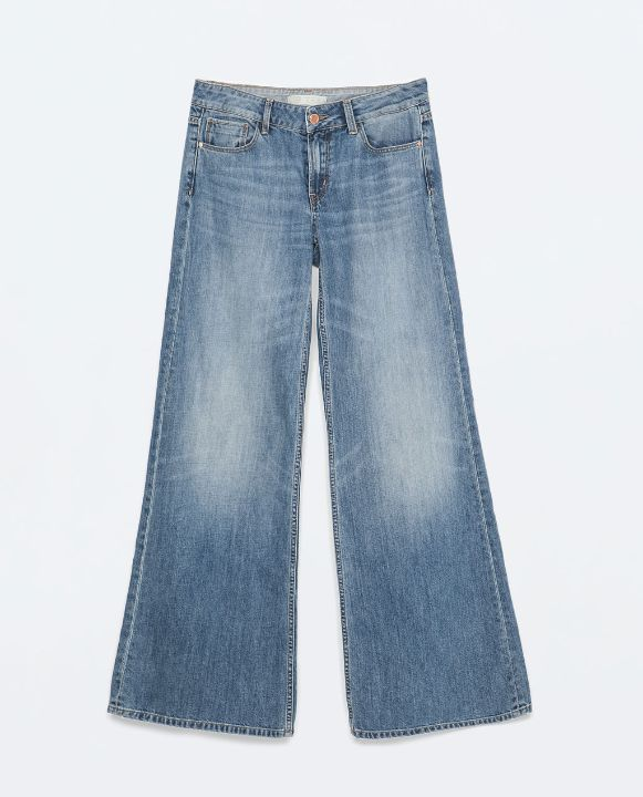 zara wide legged jeans