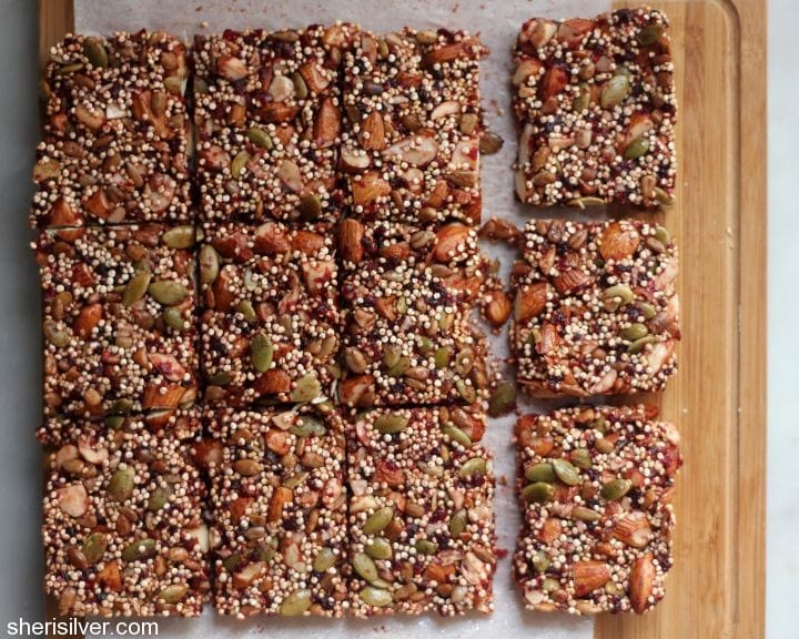 cherry quinoa bars