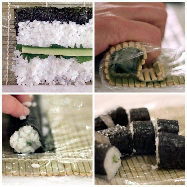 sushi making class cucumber roll