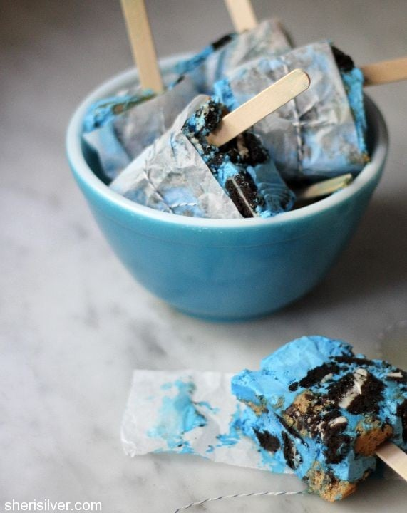 cookie monster popsicles