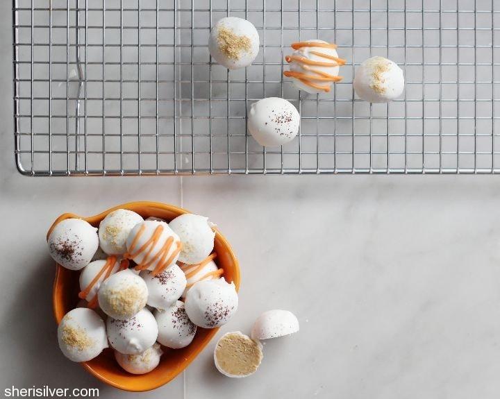 pumpkin spice latte truffles