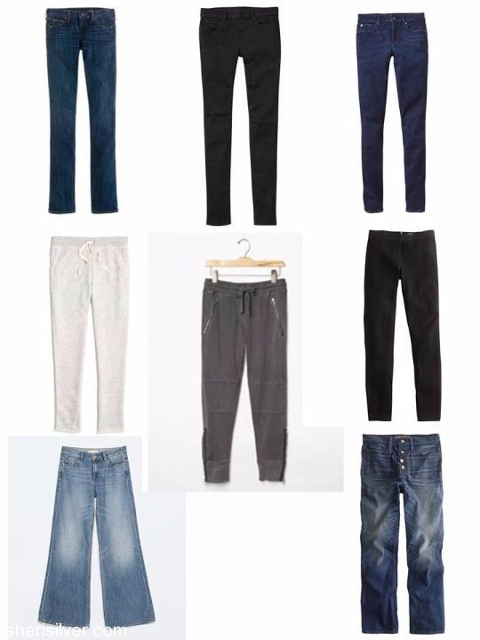 o/n15 capsule wardrobe bottoms