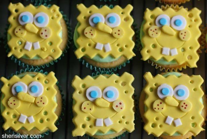 gum paste decorations sponge bob